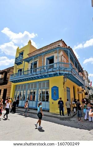 HAVANA, CUBA, MAY 11, 2009. Old houses in Havana, Cuba, on May 11th, 2009.  - stock photo
