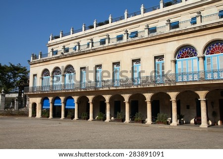 Havana, Cuba - Old Generals Palace, now the City Museum. - stock photo