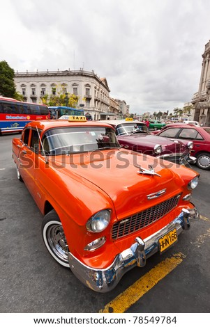 HAVANA-JUNE 2:Old Chevrolet June 2,2011 in Havana.Cubans keep thousands of classic cars like this running despite their age and lack of parts and they've become an world known icon of the country - stock photo