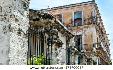 HAVANA - JUNE 30: Street in the old part of the city on June 30, 2005 in Havana, Cuba. With its distinct and decayed atmosphere, Havana is the destination of more than 1 million visitors. - stock photo