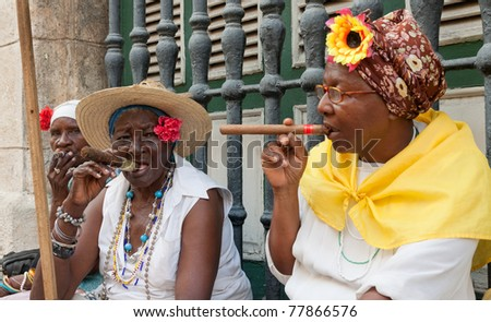 Havana may 19 old ladies with cigars may 19 2011 in havana iconic