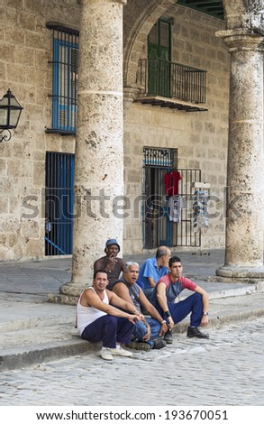 HAVANA- MAY 5: Street in the old part of the city May 5, 2014 in Havana, Cuba. Havana is famous touristic destination of more than 1 million tourists per year - stock photo