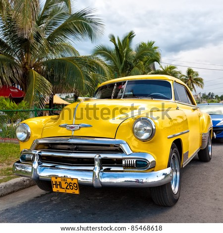 HAVANA-SEPTEMBER 26:Classic Chevrolet September 26, 2011 in Havana, Cuba. Under the current law that the government plans to change before 2012, Cubans can only trade cars that were on the road before 1959 - stock photo