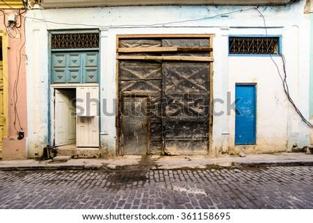 Havana street scene - stock photo