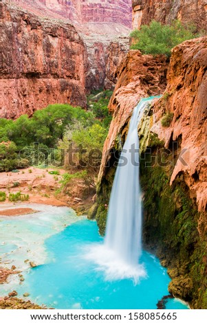 Havasu Falls, Havasupai Indian Reservation - stock photo