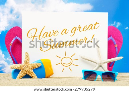 Have a great summer - stock photo