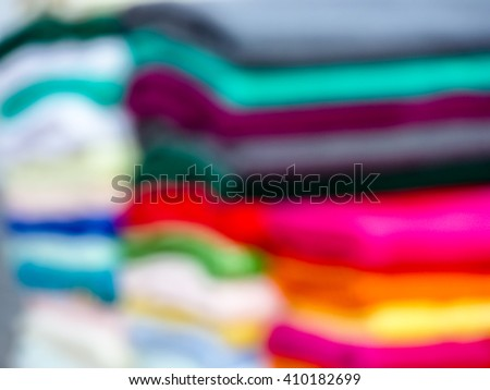 have blur towels in lots of sizes, styles and colors and towel is a piece of absorbent fabric or paper used for drying or wiping the body or a surface - stock photo