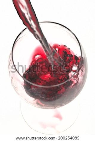 having a glass of wine - stock photo