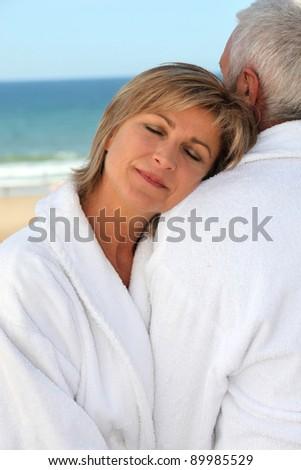 Having a little rest on her other half shoulder - stock photo