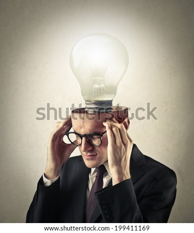 having an idea - stock photo