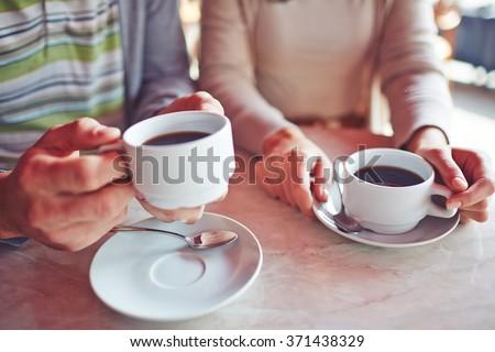 Having coffee - stock photo