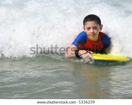 Having fun on the beach - stock photo