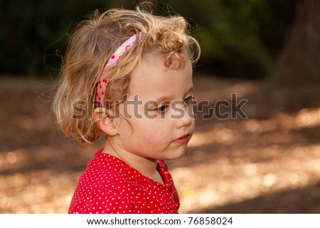 Having fun walking in the park on Sunday afternoon. - stock photo