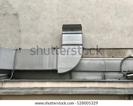 havoc ventilation air system outside the building with concrete wall background