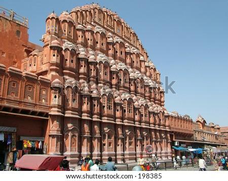 Hawa Mahal, Jaipur, India - stock photo