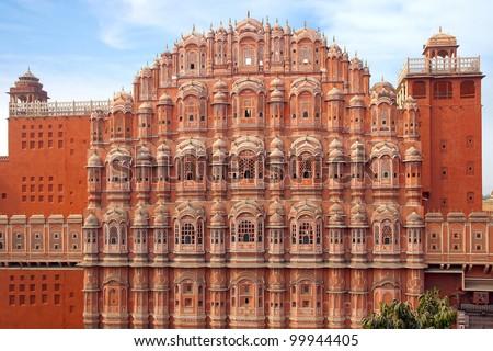 Hawa Mahal- Palace of Winds, Jaipur, India. - stock photo