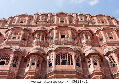 Hawa Mahal, the Palace of Winds, Jaipur, Rajasthan, India - stock photo