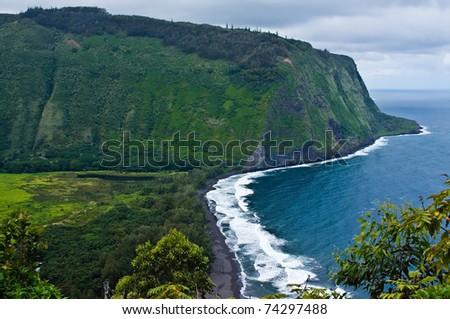 Hawai'i's Waipi'o Valley - stock photo