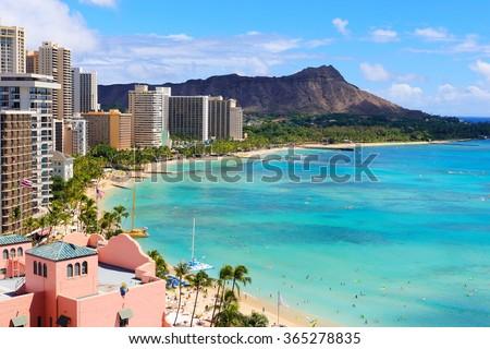 Hawaii beach - stock photo