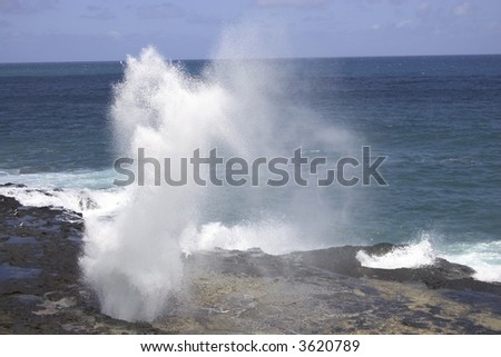 Hawaii Blowhole at Poipu Beach