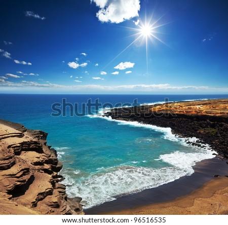 Hawaii island - stock photo