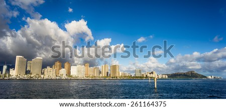 Hawaii skyline - stock photo