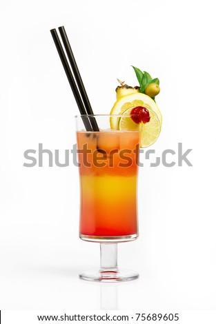 Hawaiian cocktail - stock photo