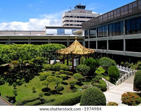 Hawaiian International Airport - stock photo