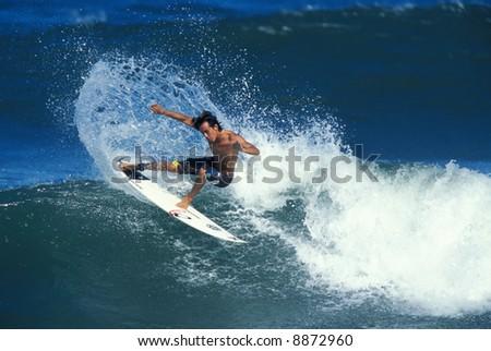 Hawaiian surfer Gavin Gilette - stock photo