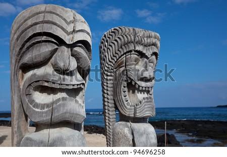 Hawaiian Tiki - stock photo