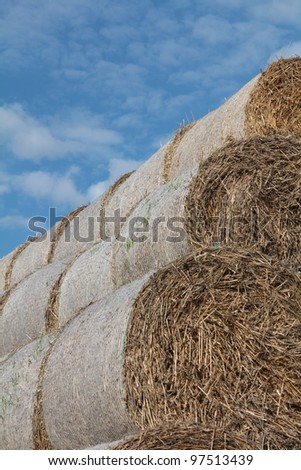 Hay bales are symbol of harvesting