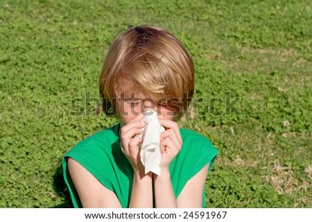 hay fever - stock photo