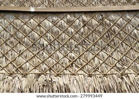 hay roof  - stock photo