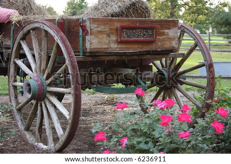 Hay Wagon - stock photo
