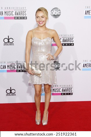 Hayden Panettiere at the 40th Anniversary American Music Awards held at the Nokia Theatre L.A. Live in Los Angeles, California, United States on November 18, 2012.