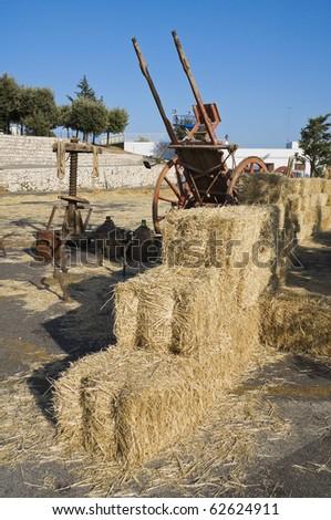 Haystacks. - stock photo