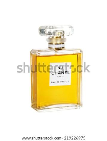 Hayward, CA - September 16, 2014: Chanel No5 Perfume - stock photo