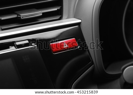 Hazard light button, Emergency light button - stock photo