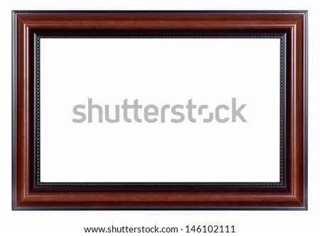 Hazel vintage picture frame isolated on white background. - stock photo