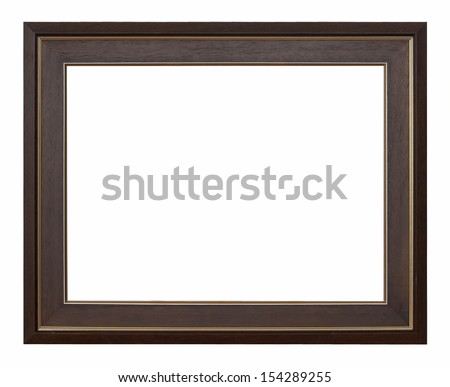 Hazel vintage picture frame isolated on white background.