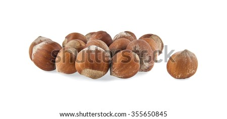 hazelnuts isolated on white background