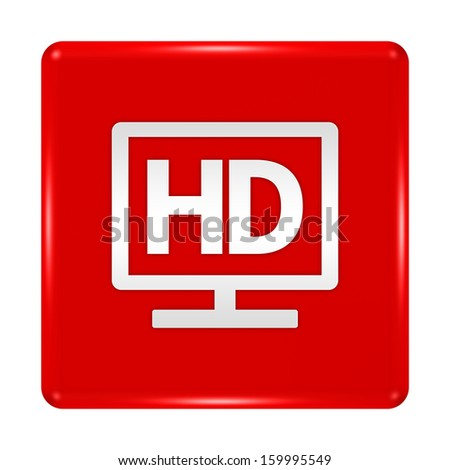 hd display button isolated - stock photo