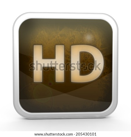 HD square icon on white background
