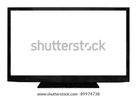 HD television isolated on a white background - stock photo