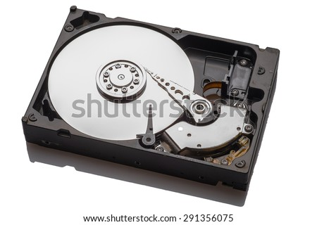 HDD on isolate background with clipping path - stock photo