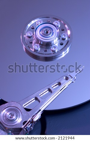 Hdd with data arm - stock photo