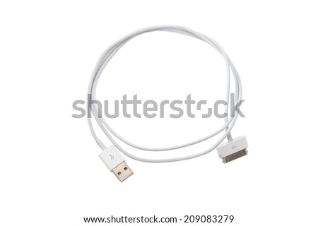 HDMI Female to Micro USB Male and Female Adapter Cable on white background  - stock photo