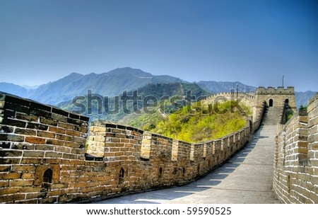 hdr image from the great wall in china