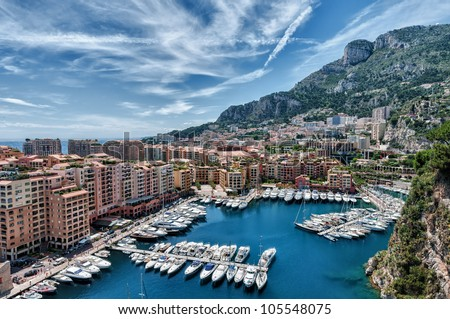 hdr image of monaco - stock photo
