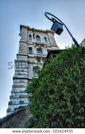 hdr image of museum in monaco - stock photo